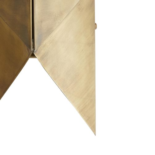 details of origami brass sconce