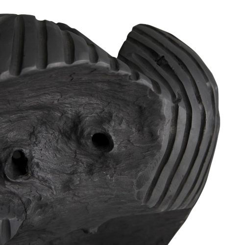 black teak root centerpiece, hand-carved and finished in black finish.