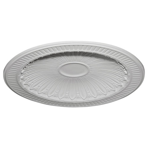 Hampton ceiling dome has molded in a deep relief design.