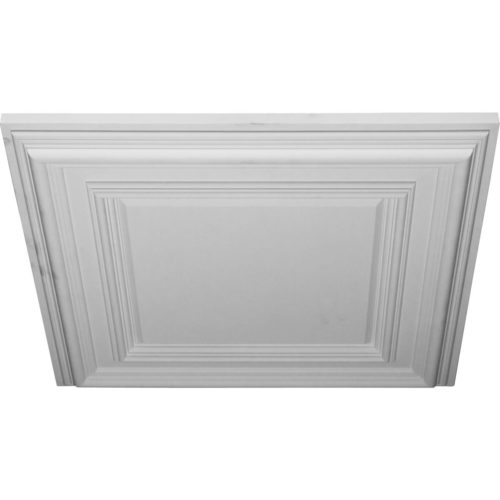 The traditional ceiling tile is modeled after an original historical pattern and design.