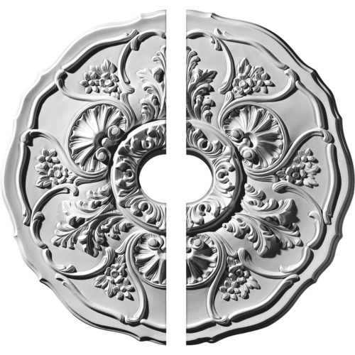 two piece Le-Chatter Ceiling Medallion.