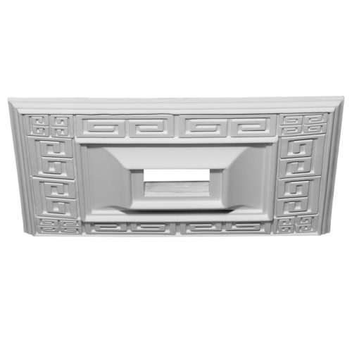 Square ceiling medallions are manufactured from high-density furniture grade polyurethane and are water and heat resistant impervious to insect infestation and odor-free.