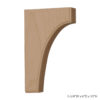 Enjoy the warmth and beauty of the simple wood bracket.