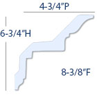 crown molding profile dimensions