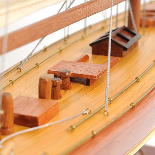 Our Enterprise Yacht model is scratched built plank on frame by skillful and creative master craftsmen.