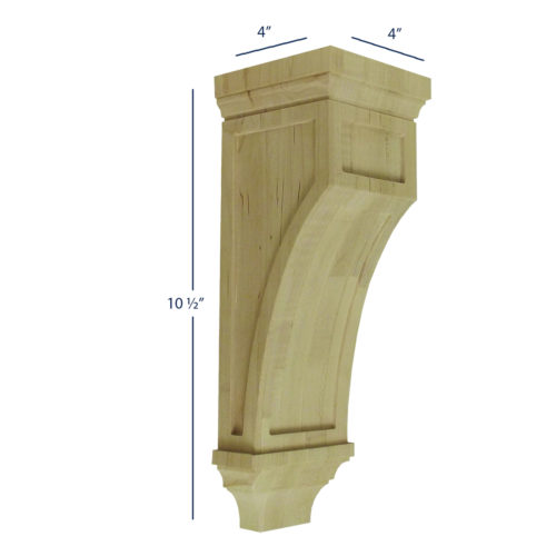 Mission Corbel with Raised Panel Details